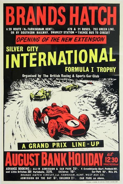 Formula 1 car poster Brands Hatch