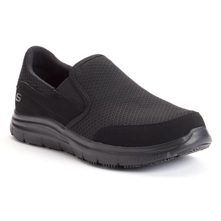 Skechers Work Relaxed Fit Flex Advantage McAllen Men's Slip-Resistant Shoes, Size: 10.5, Oxford