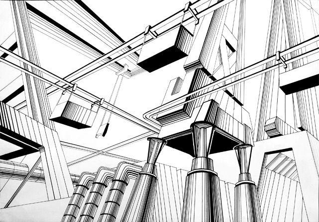 Мегаполис #composition #concept #art #design #draw #композиция #графика #мегаполис #artworkshop #artisthall