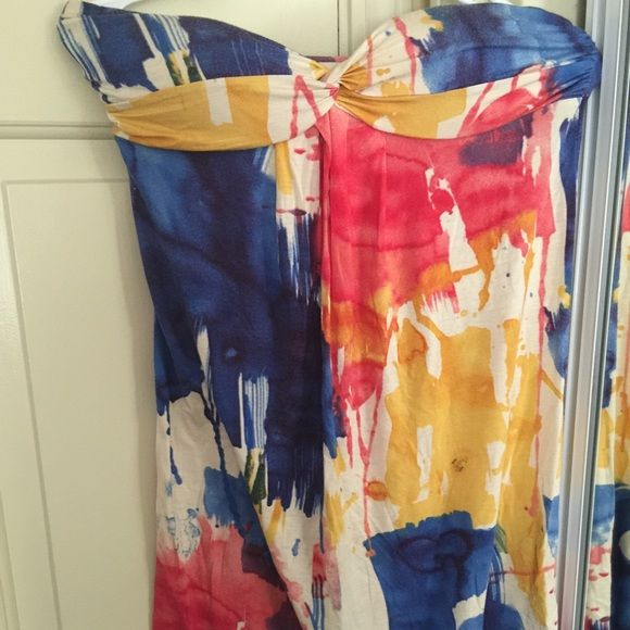 DONATING 2/14 Forever 21 watercolor dress Gorgeous color! Make a statement! Forever 21 Dresses