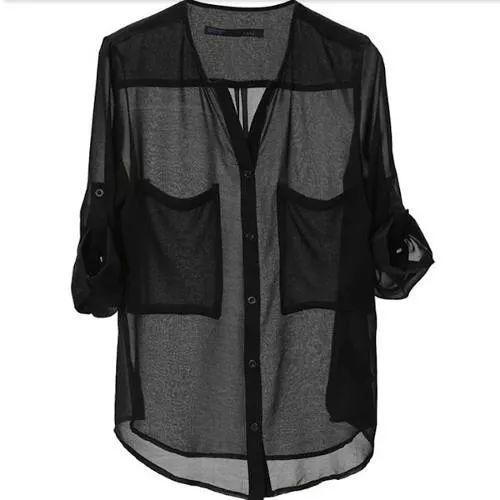 Camisas De Gasa Mujer Talles S - M , Remeras Musculosas Jean - $ 390,00