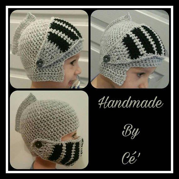 Bonnet bébé ou enfant chevalier au crochet  bonnet visière