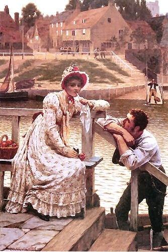 """Edmund Blair Leighton: """"Courtship"""""""