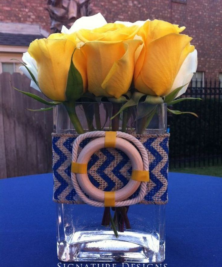nautical baby shower flowers