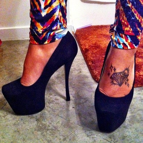 ... High Heel Tattoos on Pinterest | Flip Flops High Heels and Heels