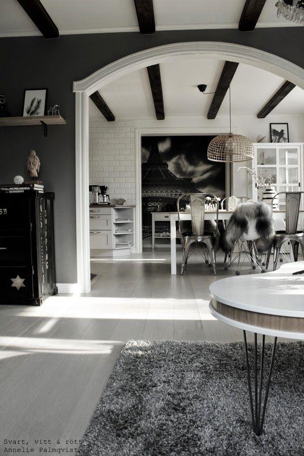 matsal, matsalsbord, matstolar, plåtstolar, plaststol, vitt, grått, fototapet…