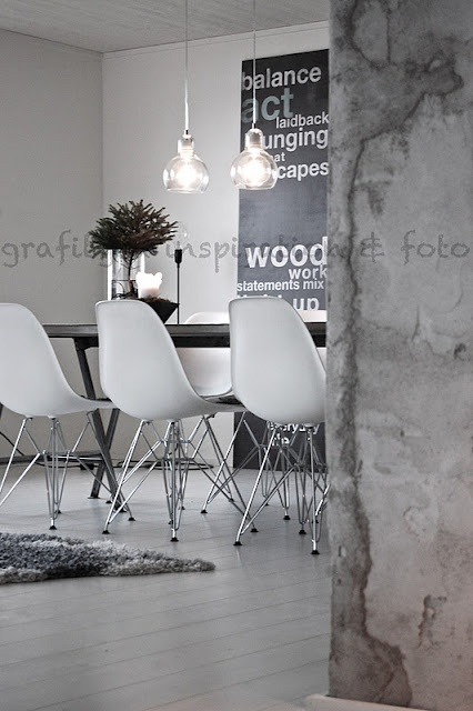 .: Dining Rooms, Houses Interiors, Eames Chairs, Interiors Architecture, En Efterlängtad, Dinning Rooms, Furniture Decor, Interiors Decor, Offices Interiors