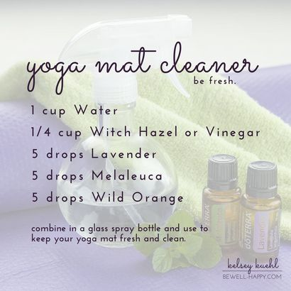 Over 50 Tea Tree Essential Oil Uses (aka Melaleuca) - DIY Yoga Mat Spray Cleaner with dōTERRA Lavender, Melaleuca and Wild Orange essential oils. Natural, safe and effective household cleaner.