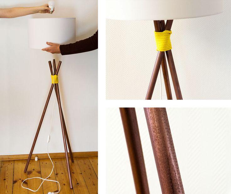 diy stehleuchte im kupfer look lampe pinterest. Black Bedroom Furniture Sets. Home Design Ideas