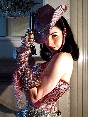 problem: I have always felt like I needed a bedazzlier, but everything they made was so ugly. This costume answers my quandary.