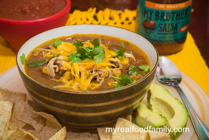 chicken taco soup is one of my family's favorite soups. My Brother ...