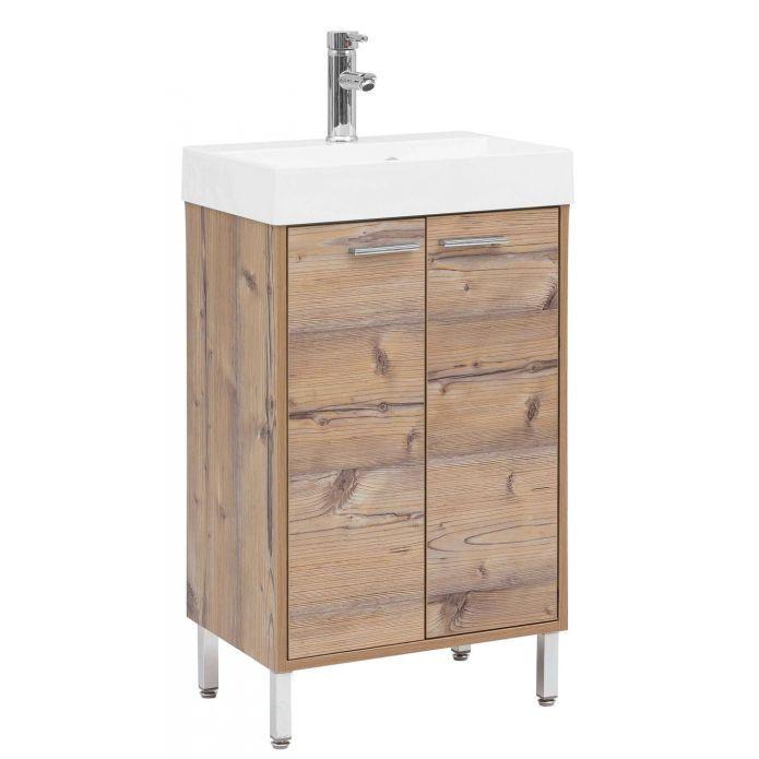 Moderner Waschtisch In Holzoptik Waschtisch Wasche Bad
