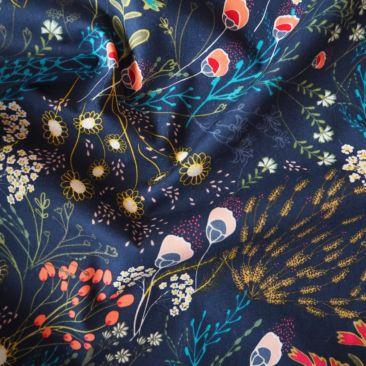 Art Gallery Fabrics Meadow Dim Rayon Fabric - Guthrie & Ghani