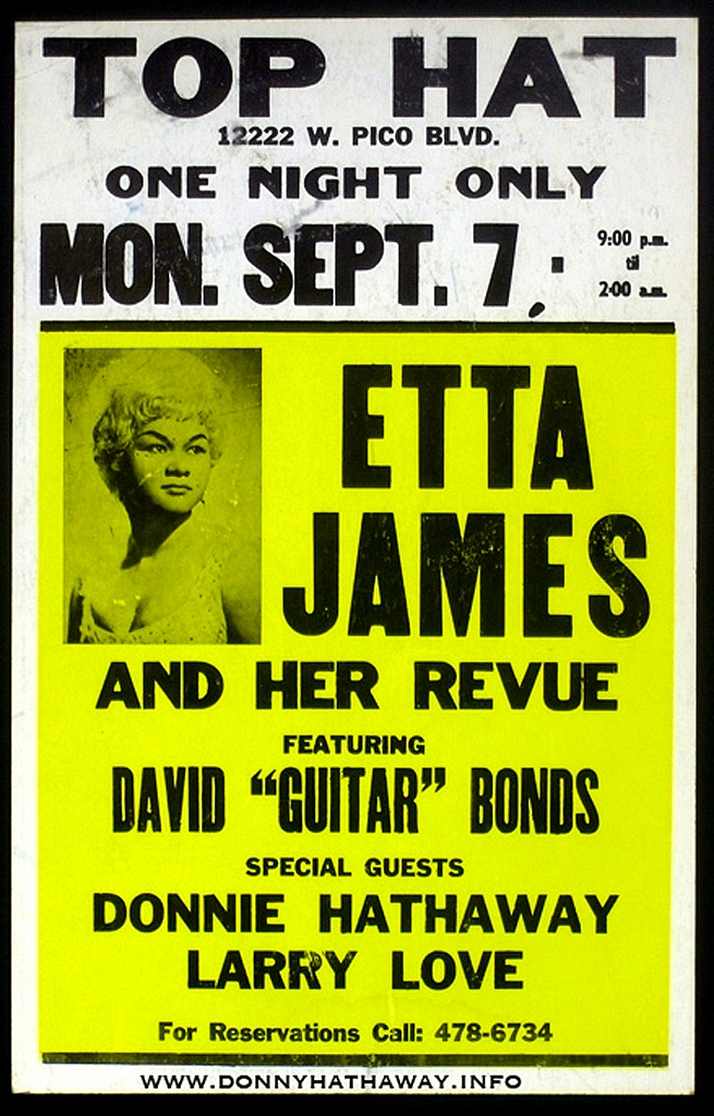 Classic Etta James Concert Poster With Donnie Hathaway Larry Love