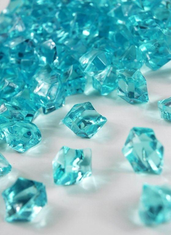 Table Scatter Vase Gems Aqua Blue ( 3/4 lb bag ) $3.99 each / 3 for $2.99