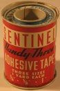 Sentinel Adhesive Tape 3 sizes; Dist. by Forest City Products, Inc.k, Cleveland, Ohio.  No zip code.
