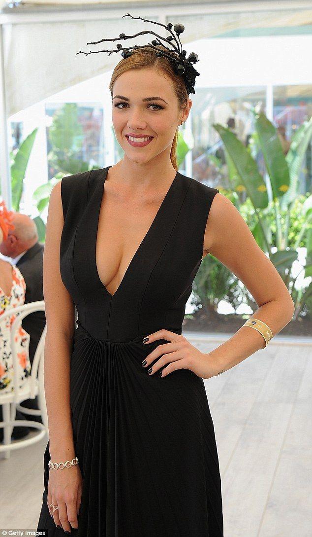 Demi Harman.. ELLERY dress, with abstract Viktoria Novak headpiece..