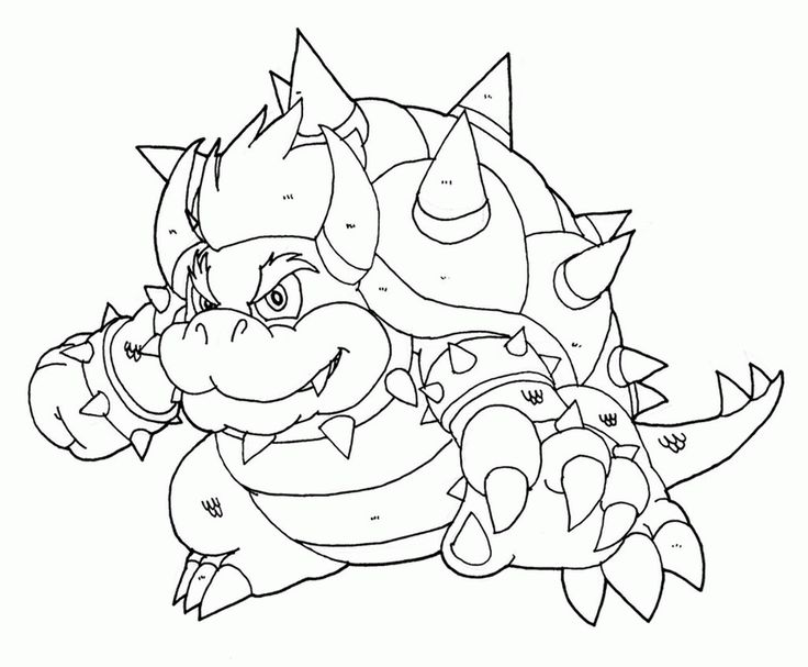 Bowser Coloring Pages 435191 Every Coloring Page There