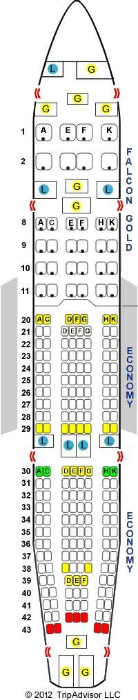 SeatGuru Seat Map Gulf Air Airbus A330-200 (332) Version 1 - SeatGuru