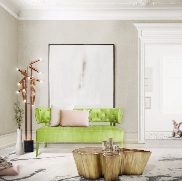 How To Decorate With Greenery, Pantone Color Of The Year 2017 | Spring Color Trends. Interior Design Inspiration. #colortrends #pantone #greenery Read more: https://www.brabbu.com/en/inspiration-and-ideas/moodboard/decorate-greenery-pantone-color-year-2017