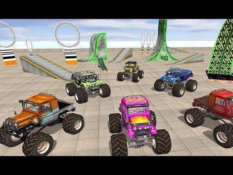 juegos de carros monstruos Stunt para niños, videos de Monster Truck