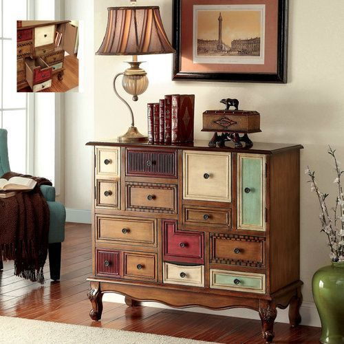 BEST PRICING  FREE SHIPPING  HIGH QUALITY  Decorative Storage Cabinet Accent With Drawers Vintage Wood Display Chest Entry  DETAILS  This eye-catching decorative storage cabinet is a true one-of-a kind statement piece for any room in your home!...