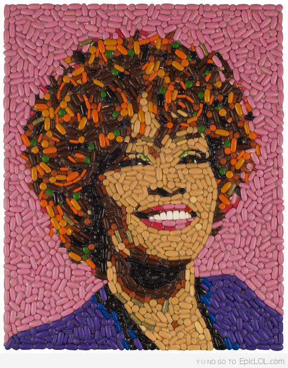 Not Nice! Whitney made out of pills