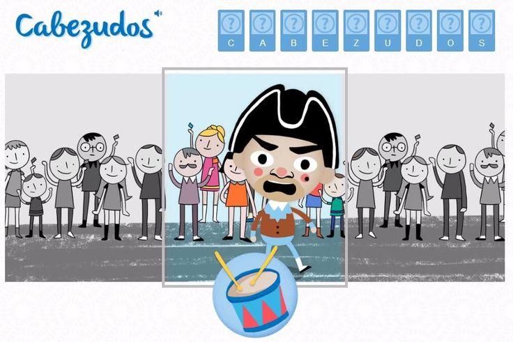 Nuevo pictojuego de Pictoaplicaciones: Cabezudos. Juego pensado para niños con parálisis cerebral y para trabajar la psicomotricidad fina. http://www.pictojuegos.com/cabezudos/