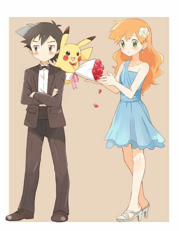 Pokemon - Ash and Misty (really reminds me of Golden Time and I love that anime... however I don't know if that is what the artistw as going for :D)