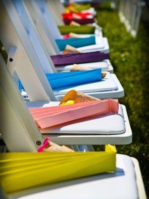 Cute idea for outside summer weddings