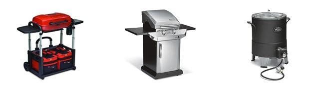 31 Grand Prizes: Selection 1 of 3 Grills. (10) 2 Burner Stainless Grill, (10) Grill 2 Go, (11) Big Easy Turkey Fryer  !!!!!
