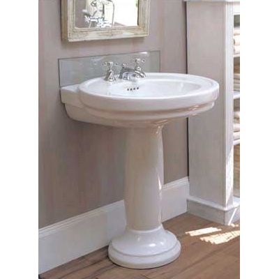Photo On Corner Pedestal Sinks for Small Bathrooms