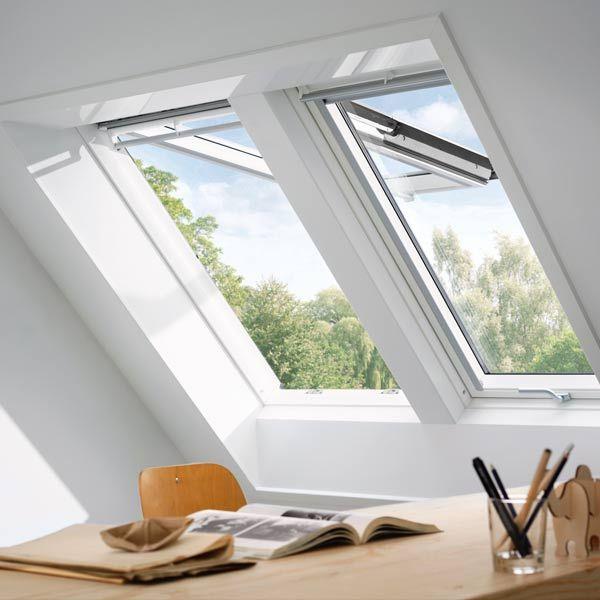 Innenraumszene Mit Velux Lichtlosung Duo Dachfenster Dachfenster Velux Sonnenschutz Dachfenster