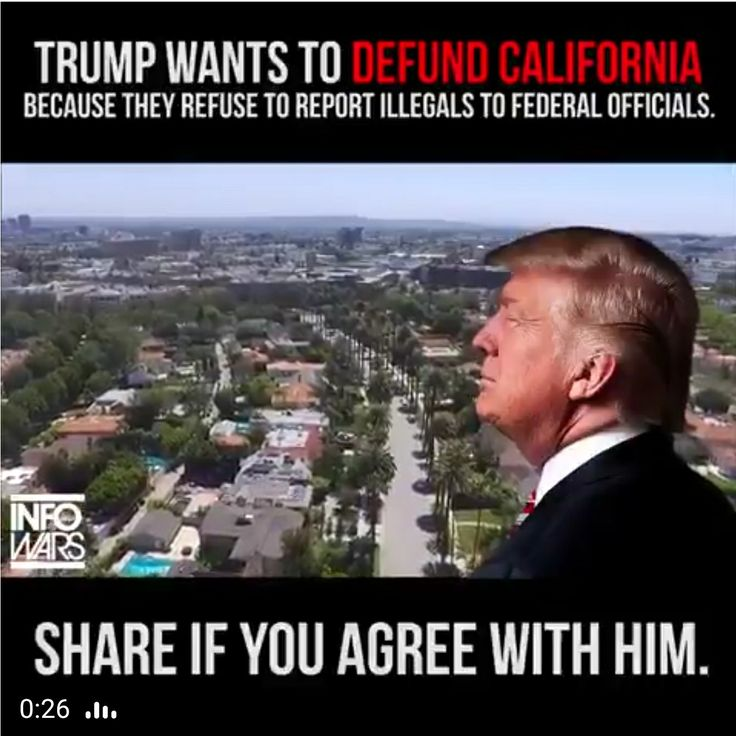 """Not just Cali, but all States that declare themselves the created title of """"Sanctuary Cities"""". Funny how in their little sanctuary, they are free from the punishment of sin---but not free from $$$$$$. That is unfair."""