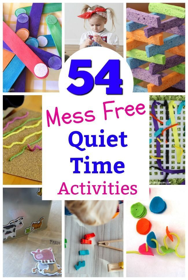 54 Mess Free Quiet Time Activities For 3 Year Olds Toddler Learning Activities Quiet Time Activities Preschool Activities Preschool activities year olds