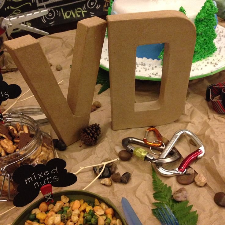 Standout letters where guests write their wishes for the birthday boy