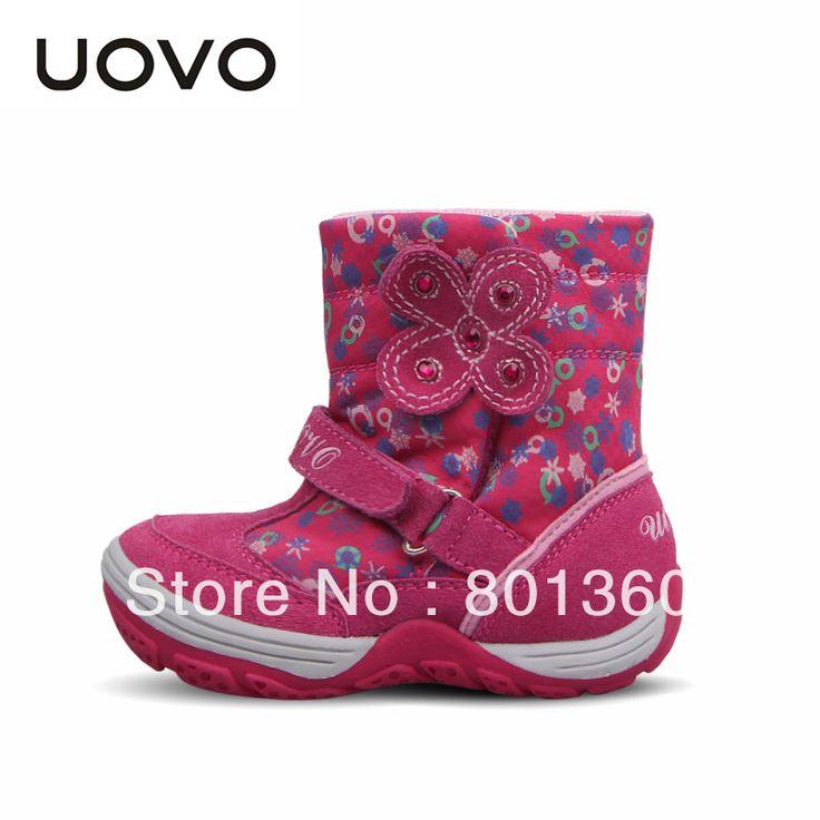 Красные Замшевые Сапоги UOVO Известный Бренд Сапоги Мода Маленьких Детей Обувь Botas Zapatillas Высокое Качество Фиолетовый Красные Замшевые Сапоги
