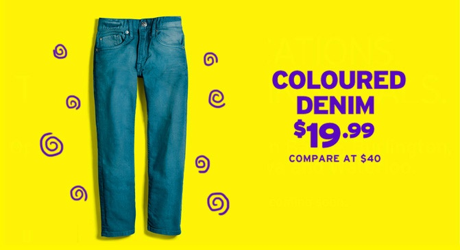 Marshalls Coloured Denim $19.99, compare at $40