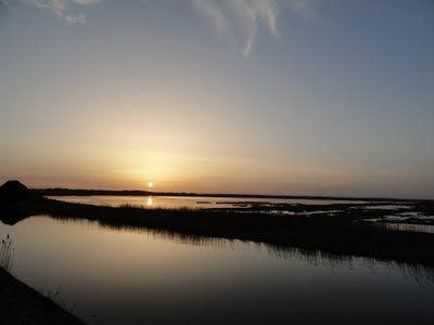 Solnedgang over Vejlerne.