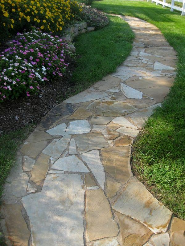 Rock walkways lawrence ks landscape design rock work for Landscaping rocks in kansas city