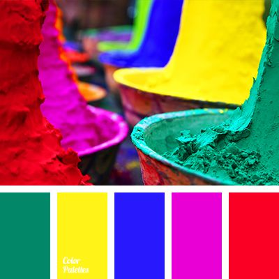 The combination of bright and contrasting colours will remind you of summer filled with adventures. Print or poster with similar colours will become a brig.