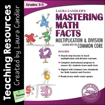 Mastering Math Facts Multiplication and Division: Aligned with the Common Core (Ebook version) by Laura CandlerFrustrated because your students don't know their times tables? Looking for specific teaching strategies or multiplication practice activities to teach and reinforce basic math facts?