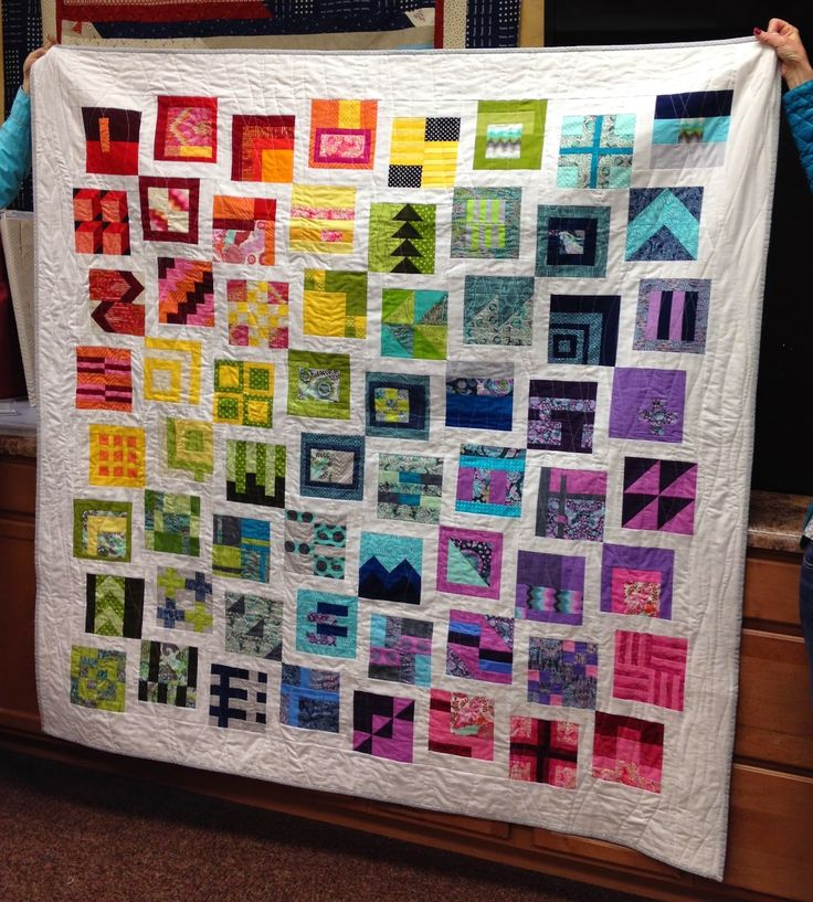 City Sampler Quilt - I took a year long BOM class at Hi Fashion Sewing Machines, called Saturday in the City. We used Tula Pink's City Sampler book and her Fox Field line. I decided that I really didn't want to use all 100 of the blocks and decided that these 64 blocks worked best in the layout I chose for my first quilt in 2015.