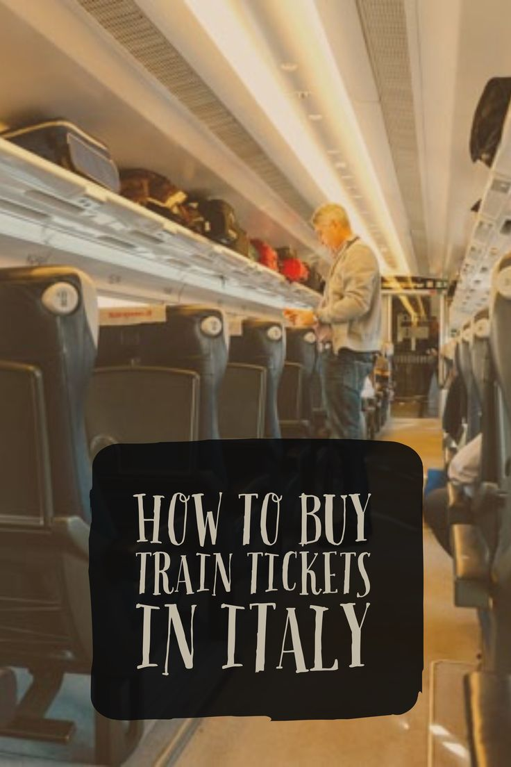 How to buy train tickets to travel in Italy