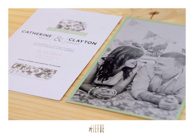 clayton + cath || wedding invite || geliefde studio