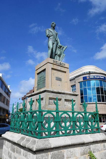 Lord Nelson Statue, Bridgetown, Barbados predates statue ...