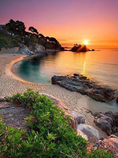 Beaches around the World !!! -Platja D'Aro, Girona, Spain.
