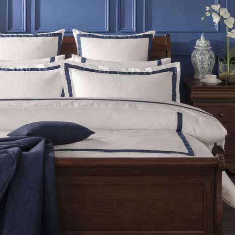 Dorma Maddison 100% Cotton Navy Duvet Cover | Dunelm