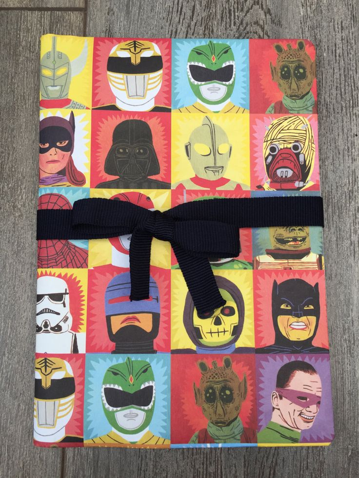 Hand-decorated notebook - batman, star wars by DiamondJems on Etsy