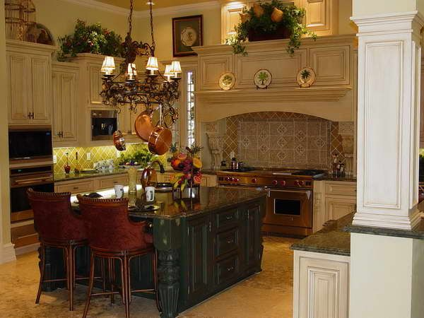 Like The Yellow And Green Arrangement On Top Kitchen